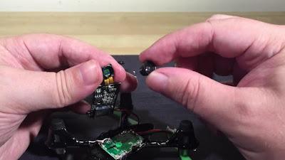 Cara Mengganti Lensa Kamera Hubsan H107c  - GudangDrone