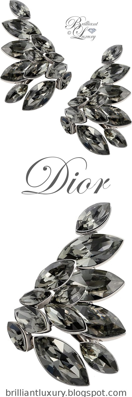 Brilliant Luxury ♦ Dior 'Everdior' earrings