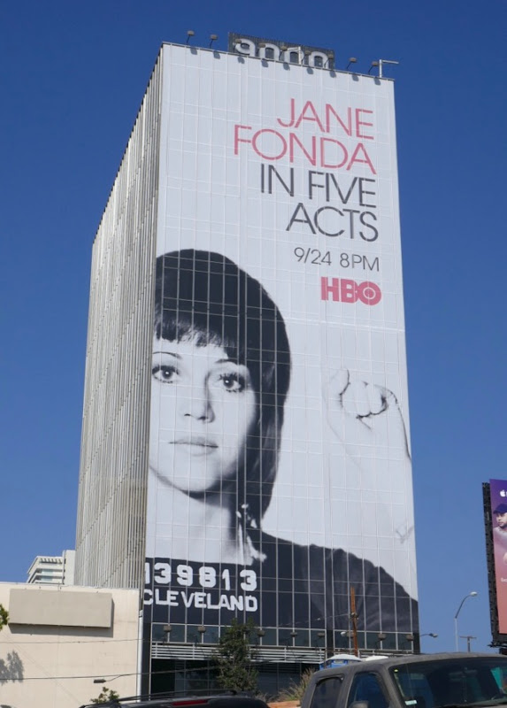 Giant Jane Fonda In Five Acts HBO billboard