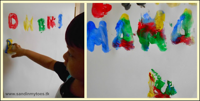 Painting with letters