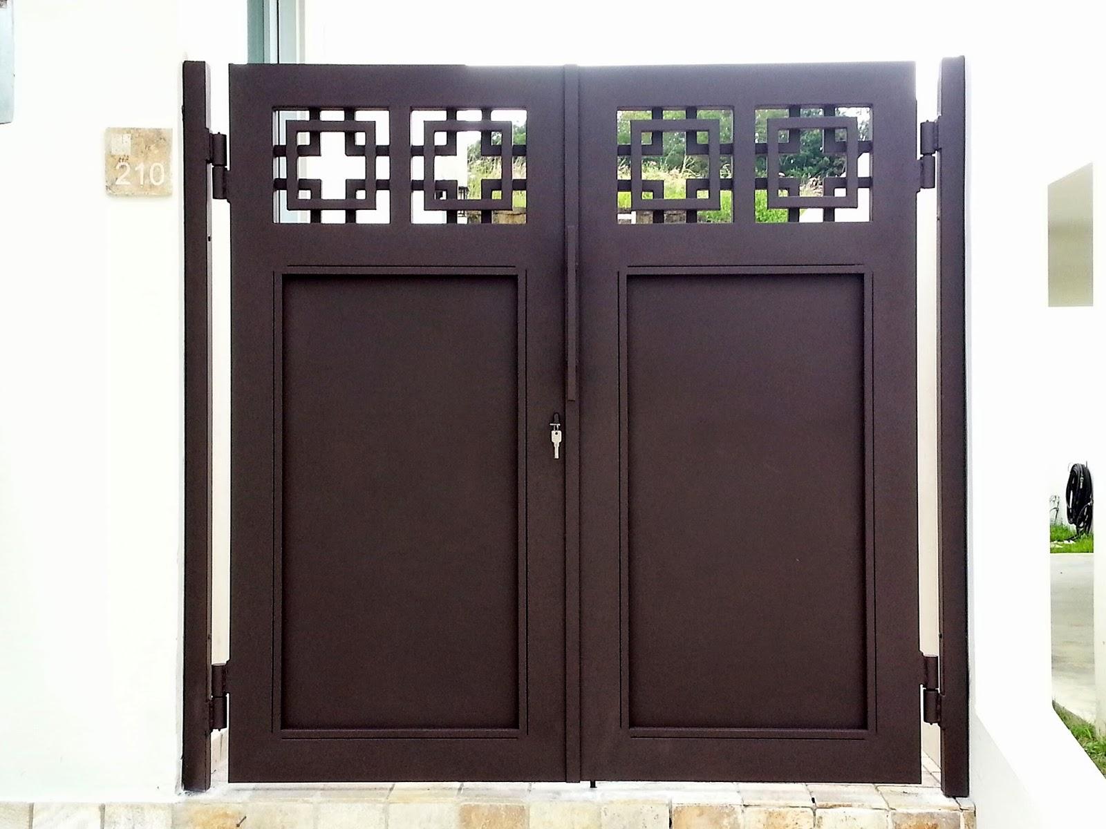 Rejas y portones portones modernos - Puertas de metal para casas ...