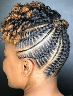 Cornrows Braided hairstyles are a trendy style for the African American women community ✘ 31+ Trendy Cornrows Braids Hairstyles For Black Women To Copy In 2020