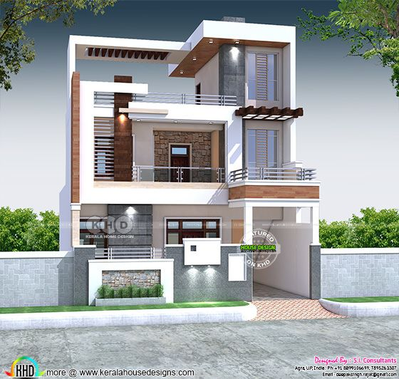Front elevation of North Indian house architecture