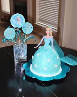hiasan kue ulang tahun frozen