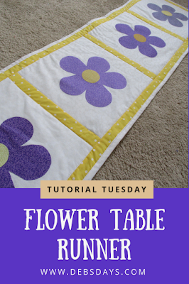 Homemade Quilted Spring Flower Table Runner Sewing Project