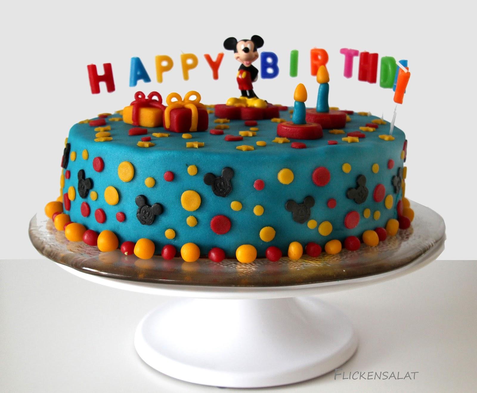 Flickensalat: Eine Micky Maus Torte für den Enkelprinzen