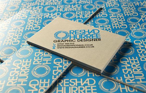 Reshad hurree – nếu lật mặt sau những tấm thẻ và xếp chúng lại, bạn sẽ được một  hình nền khá thú vị. Danh thiếp của website Reshadhurree.co.uk