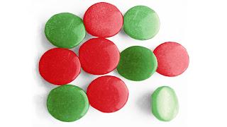 сочетание красного и зелёного цвета