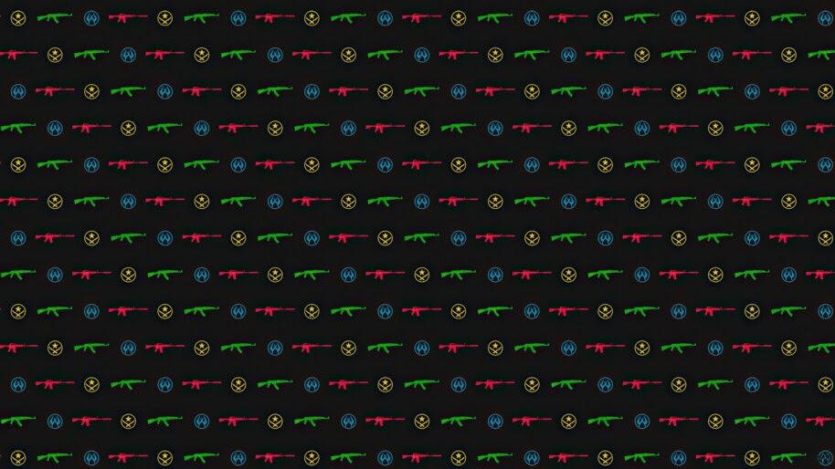 CS:GO, Guns, Minimalist, Background, 4K, #4.3157