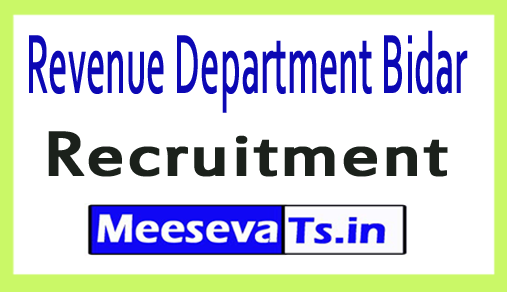 Revenue Department Bidar Recruitment