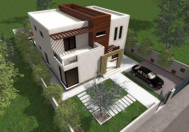 Casa moderna de 2 pisos proyectos de casas for Fachadas de casas modernas 2 pisos