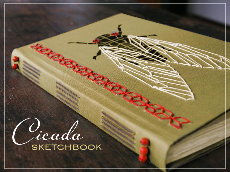 Nessy Designs Handmade Cicada Sketchbook