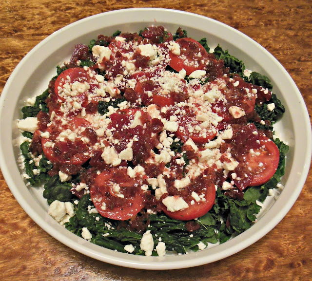 Tangy Cranberry and Thyme Vinaigrette goes with a wide variety of salad greens, for a delicious salad.