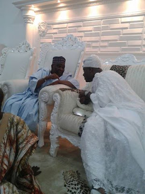 Former Head Of State Yakubu Gowon Visits Ooni Of Ife At His Palace In Osun State. Photos