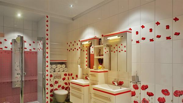 Kamar mandi berbunga-bunga