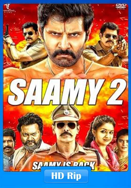 Saamy 2 2019 Hindi 720p HDTVRip x264   480p 300MB   100MB HEVC Poster