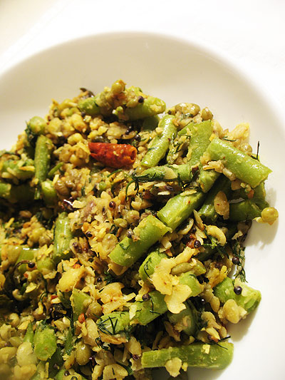 green bean palya