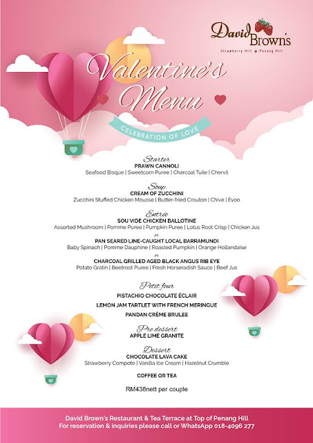 Valentine Day Celebration at David Brown's Restaurant @ Penang Hill