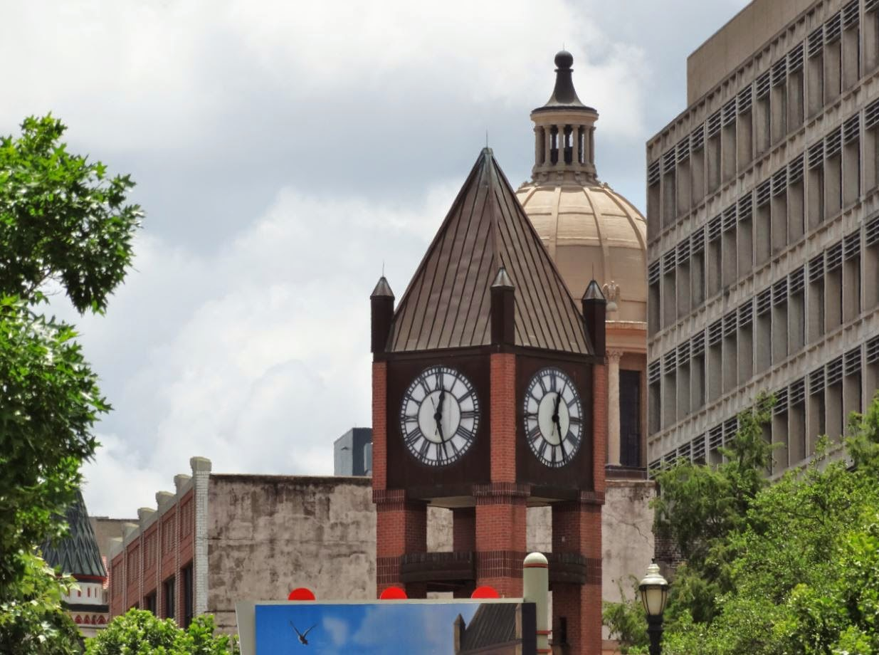 City of Houston Historic District - Clock tower and courthouse dome