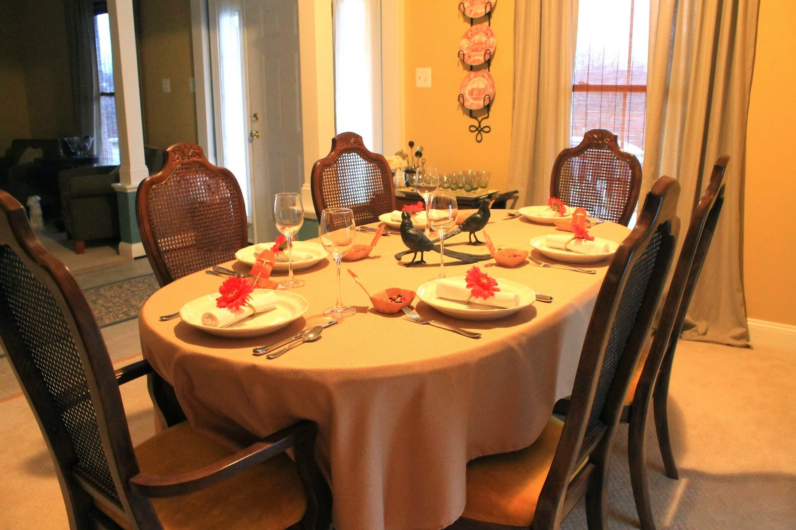 Maryland Pink and Green: Thanksgiving Tablescape