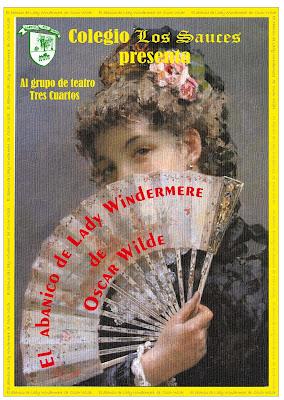 """23 de mayo. 18:30 h. """"El abanico de lady Windermere"""" en el C. C. Pablo Iglesias de Alcobendas"""