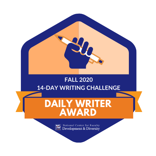 Daily Writer Award
