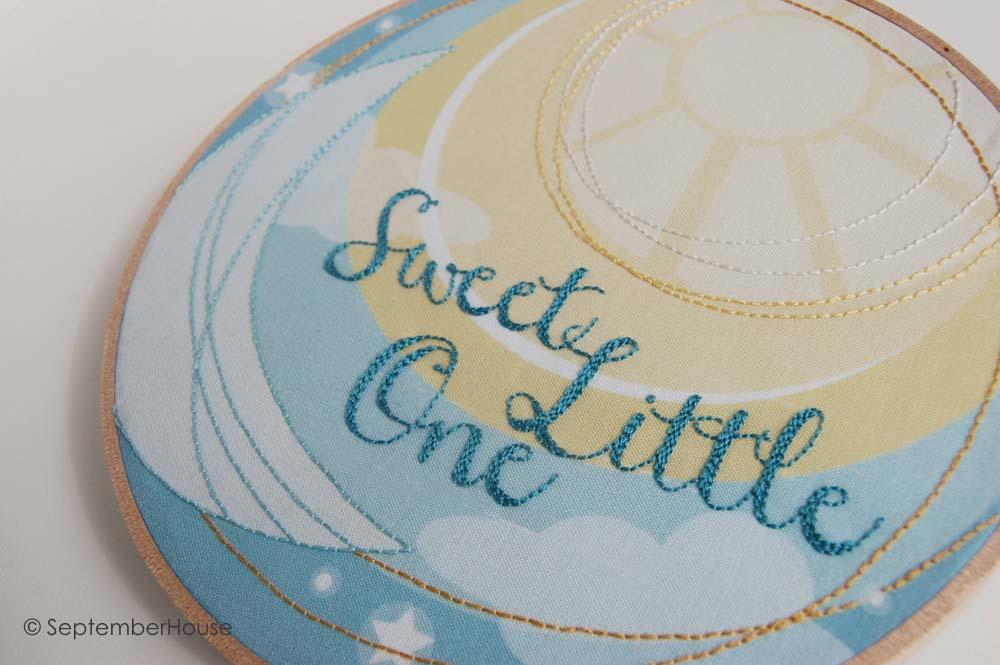 Fabric Panel For Hand Embroidery Modern Nursery Wall Art