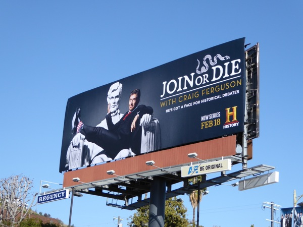 Join or Die Craig Ferguson billboard