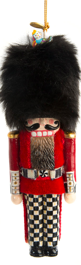 MACKENZIE-CHILDS BUCKINGHAM PALACE GUARD NUTCRACKER ORNAMENT