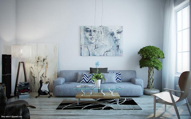 Modern Interior Design with Stunning Artwork