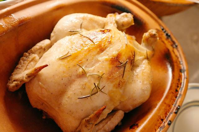 kyckling i lergryta med äpple