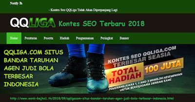 Detik-detik pengumuman Kontes SEO terbaru 2018 situs bandar taruhan QQLiga.com