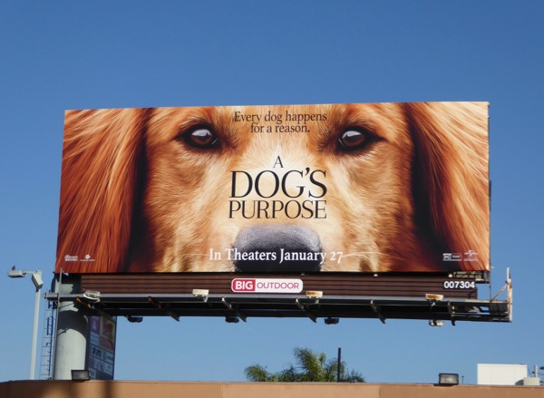 A Dogs Purpose movie billboard