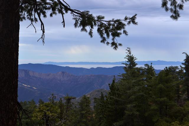 rain over Santa Ynez Mountains