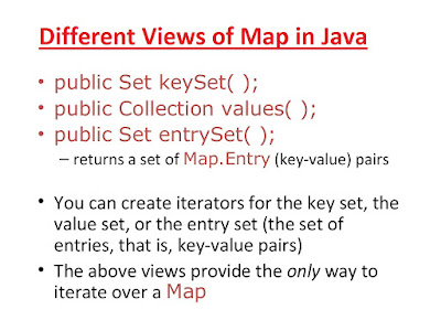 keySet() vs entrySet vs values() Example in Java