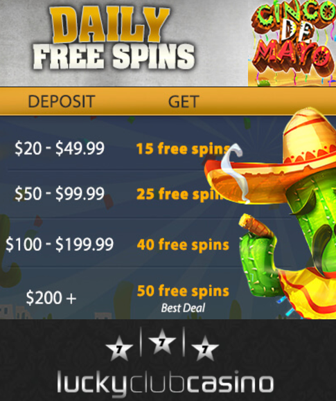 Visit Lucky Club Casino for best May Offers