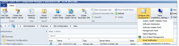 Venu Singireddy's blog: Using Non SMTP address in SCCM 2012