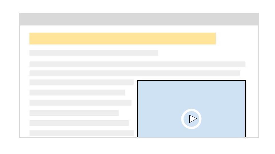 Video in posizione corretta sulla pagina desktop