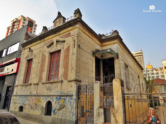 Vista ampla de Antiga Residencia Art Nouveau em Santa Cecília - São Paulo