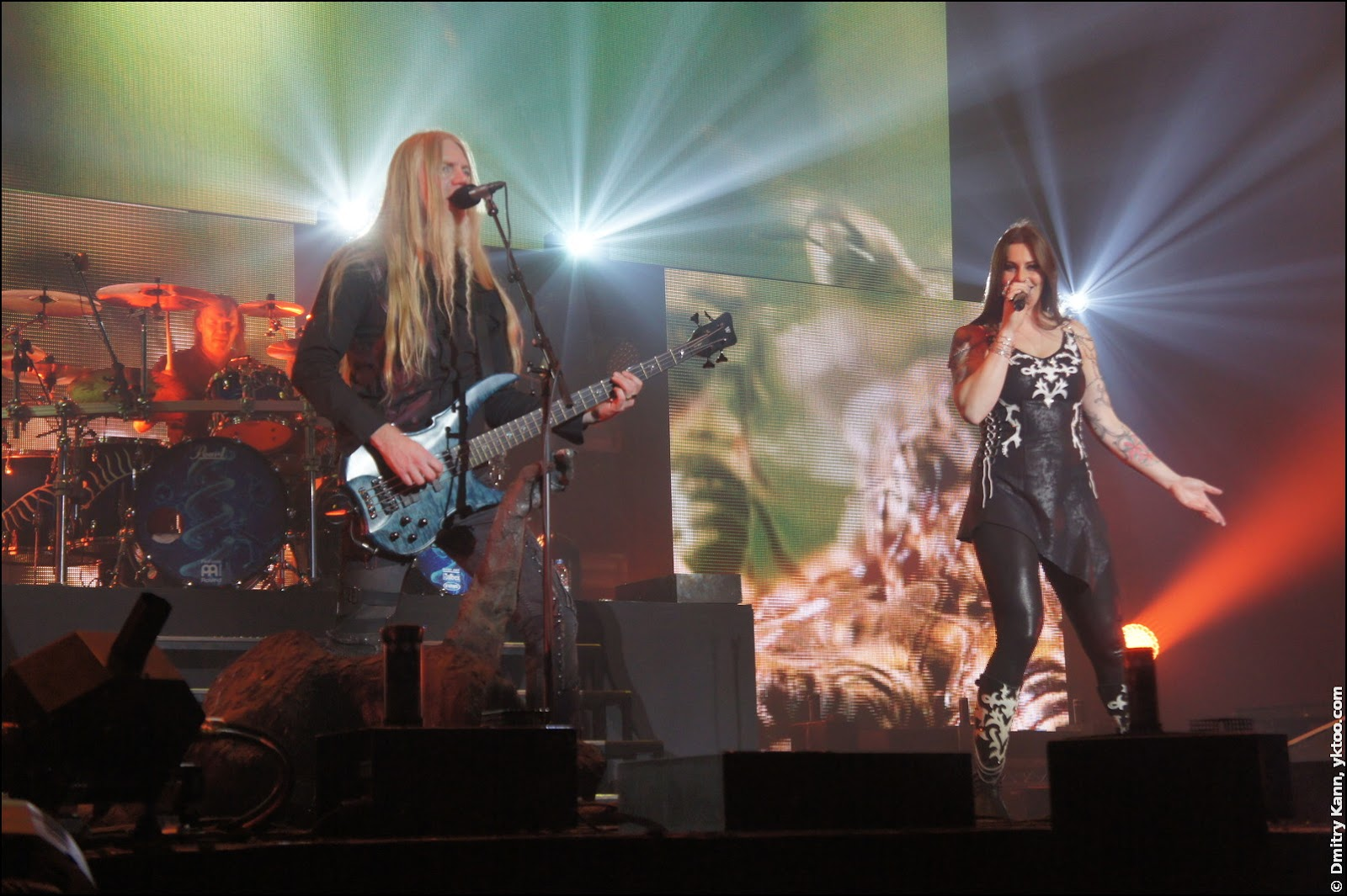 Nightwish: Marco Hietala и Floor Jansen.