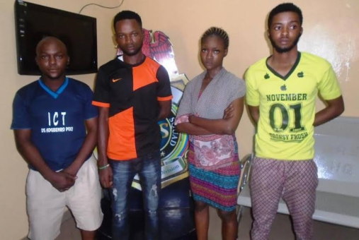 Club Girl,her Boyfriend and some others arrested for withdrawing from a Stolen ATM