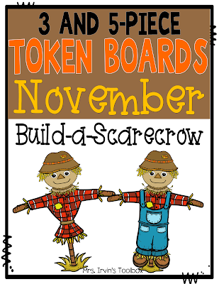 November Token Board - The Teacher's Toolbox