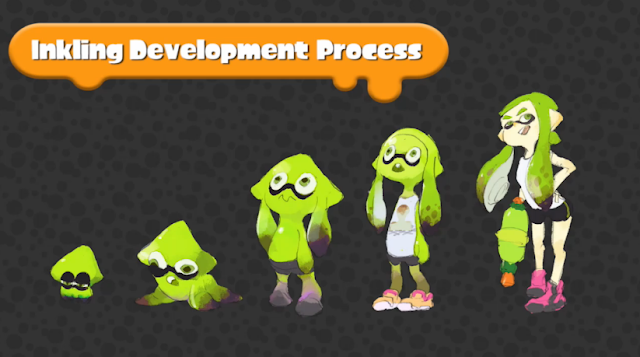 Splatoon Inkling Development Process art squid girl