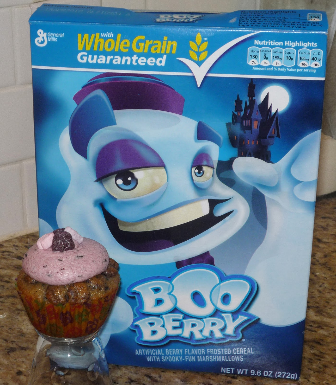 The Great Cupcake Adventure: Boo Berry Cereal Cupcakes