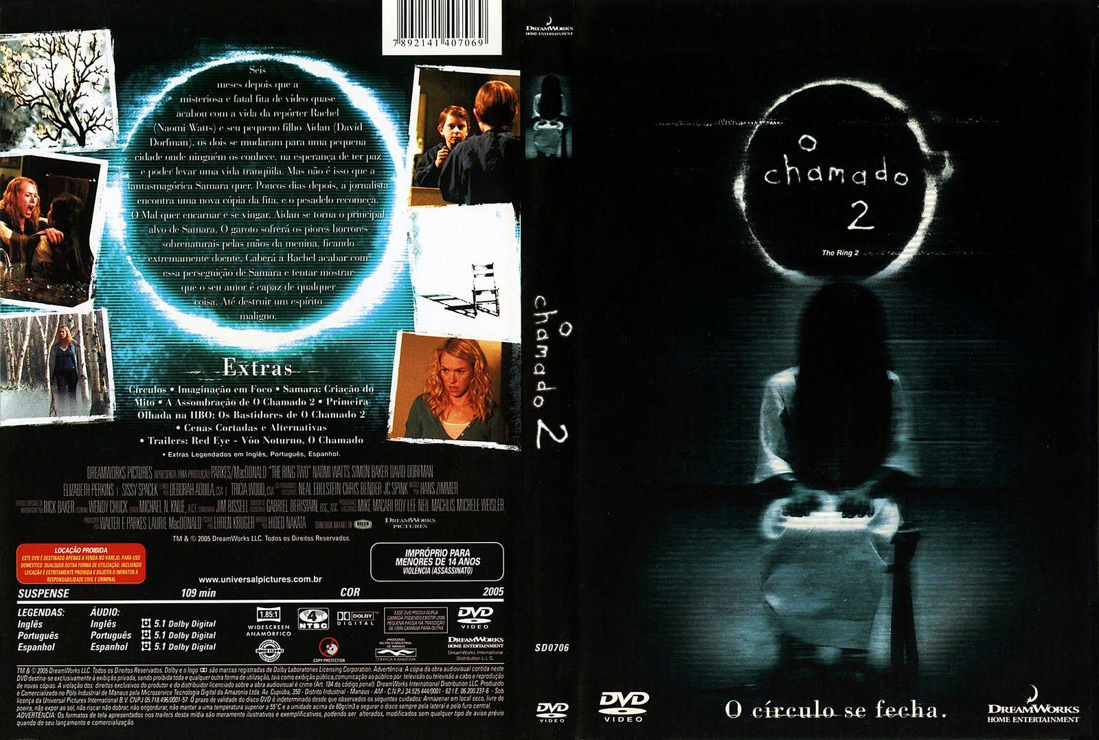 Capas Medina  Somente Capas de DVD O Chamado