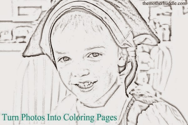 Helping Kids Grow Up: Turn Photos Into Coloring Pages