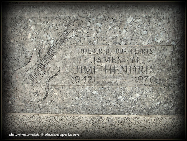 tomb of Jimi Hendrix Seattle