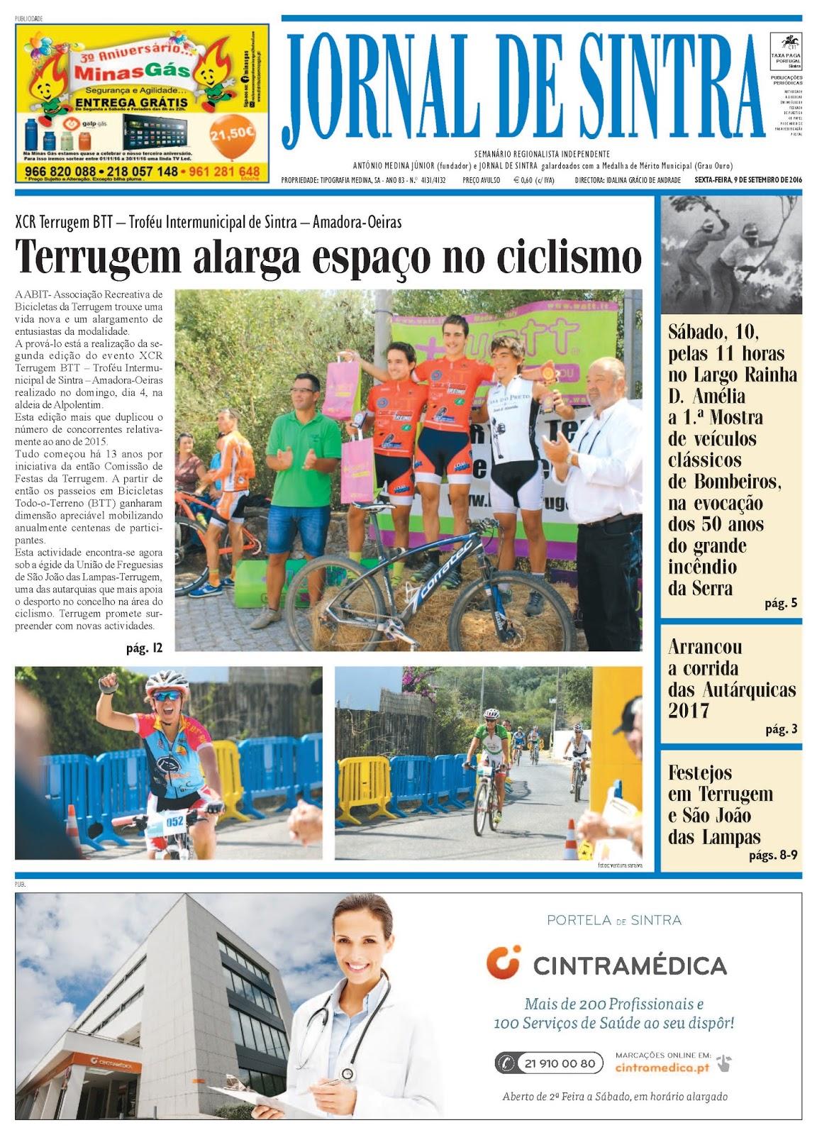 Capa da edição de 09-09-2016
