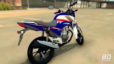 Download, mod, moto, Honda, CG, 160, 2019, Azul, jogo, GTA San Andreas PC