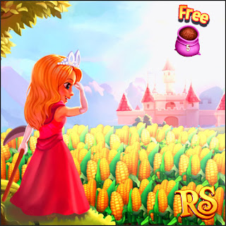 Royal Story, Facebook games, Princess, Corn field